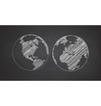 icon set earth globe vector image