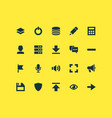 interface icons set with down arrow comment vector image