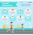 Jogging Infographics Set vector image vector image