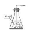 laboratory glass icon vector image