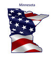 minnesota full american flag waving in wind vector image vector image