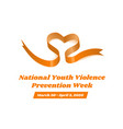 national youth violence prevention week vector image vector image