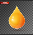 oil drop on transparent background vector image