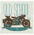 old school vintage motors poster vector image vector image