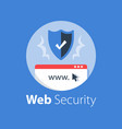 online security safe internet access vector image