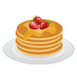 pancakes isolated vector image