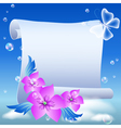 Parchment and flowers vector image vector image