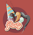 party hat design vector image vector image
