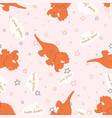 pattern dinosaur sleep vector image vector image