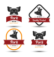 Pork label 2 vector image vector image