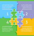 Puzzle infographic background vector image vector image