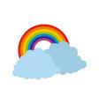 rainbow icon flat style vector image