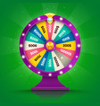 realistic retro spinning wheel fortune or luck vector image