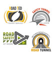 road and highway isolated symbol set vector image vector image