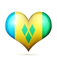 Saint Vincent and the Grenadines Heart flag icon vector image vector image