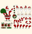 santa claus character animation set vector image