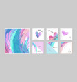 set hand-painted watercolor card vector image