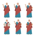Set of Moses2 vector image vector image