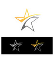 simple stars vector image vector image