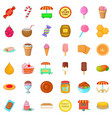 sweet candy icons set cartoon style vector image vector image