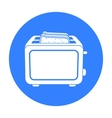 Toaster icon in black style isolated on white vector image vector image