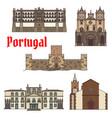 travel sight portuguese architecture icon set vector image vector image