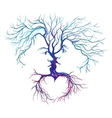 tree in the form of men and women vector image vector image