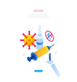 vaccine against virus - modern colorful isometric vector image