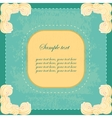 vintage banner with sweet cream corners vector image