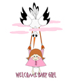 Welcome Baby Girl vector image vector image
