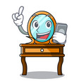 with phone dressing table character cartoon vector image