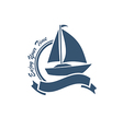 yacht symbol vector image vector image