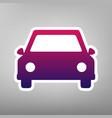 car sign purple gradient vector image