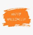 happy halloween hand paint orange watercolor vector image