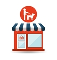pet shop with person walk dog vector image