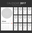 2017 Calendar Planner Design with Circle Space vector image vector image