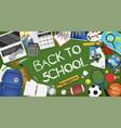 back to school sale banner template design vector image vector image