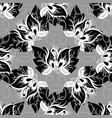 beautiful abstract black and white butterflies vector image