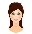 beautiful smiling woman vector image