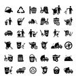 big garbage icons set vector image