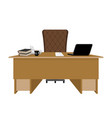 business office boss table leader supervisor vector image vector image