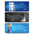 cigarette packs realistic banners vector image