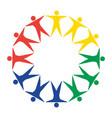 circle social groups vector image