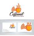 coffee and network logo vector image