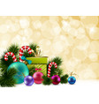 Colorful Christmas Background vector image