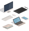 Computer Tablet items vector image