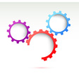 Creative gear energy technological background vector image