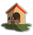 cute doggy pet icon vector image