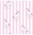 cute unicorn pattern vector image vector image