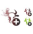 damaged pixel halftone cow add icon vector image vector image